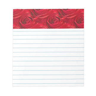 Abstract Center of Red Rose Wallpaper Notepad