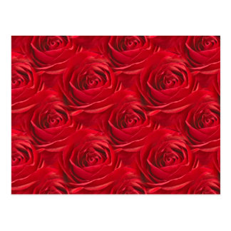 Abstract Center of Red Rose Wallpaper Postcards