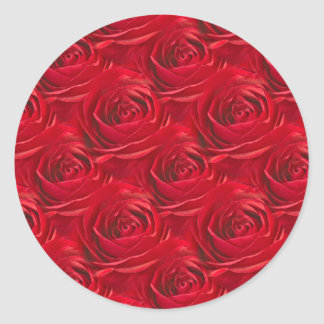 Abstract Center of Red Rose Wallpaper Round Sticker