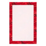 Abstract Centre of Red Rose Wallpaper Custom Stationery