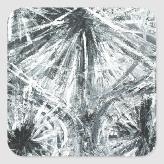 Abstract Chandelier (abstract expressionism) Stickers