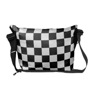 abstract checkers courier bag