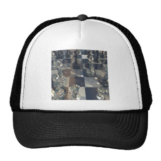 Abstract Chess Glass Board Trucker Hat