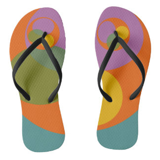 Abstract Chic Colorful Bright Vibrant Trendy Cool Flip Flops