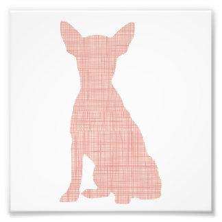Abstract chihuahua print photograph