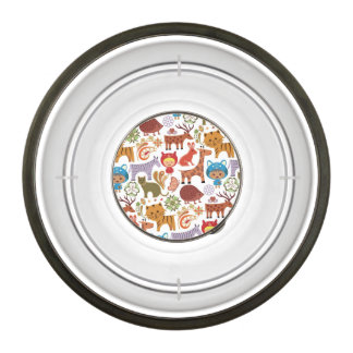 Abstract Child and Animals Pattern