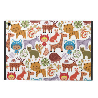 Abstract Child and Animals Pattern Cover For iPad Air