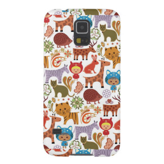 Abstract Child and Animals Pattern Galaxy S5 Case