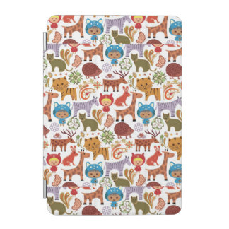 Abstract Child and Animals Pattern iPad Mini Cover