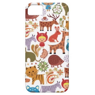 Abstract Child and Animals Pattern iPhone 5 Cover