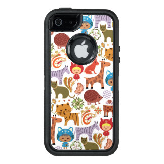 Abstract Child and Animals Pattern OtterBox iPhone 5/5s/SE Case