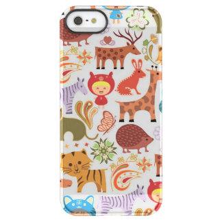 Abstract Child and Animals Pattern Permafrost® iPhone SE/5/5s Case