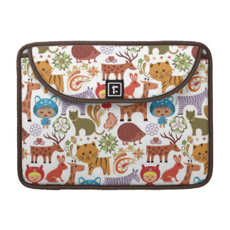 Abstract Child and Animals Pattern Sleeve For MacBook Pro