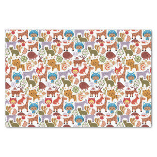 Abstract Child and Animals Pattern Tissue Paper