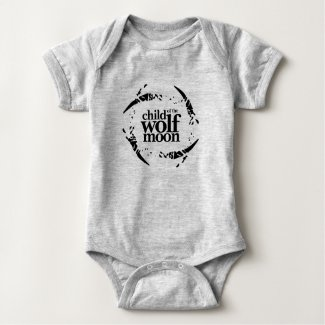 Abstract Child of the Wolf Moon Baby Bodysuit