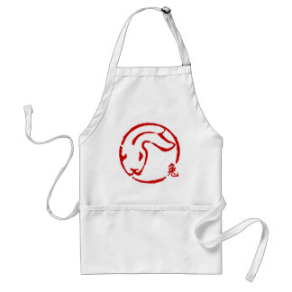 Abstract Chinese New Year of The Rabbit Standard Apron