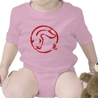 Abstract Chinese New Year of The Rabbit Romper