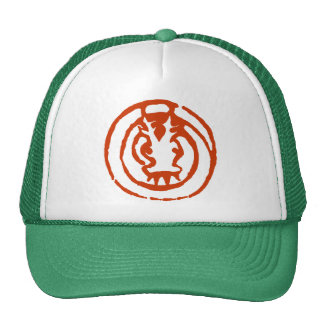 Abstract Chinese Zodiac Dragon Symbol Gift Mesh Hat