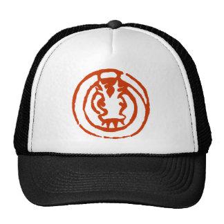 Abstract Chinese Zodiac Dragon Symbol Gift Mesh Hats