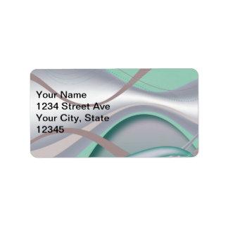 Abstract Chocolate Mint Tornado Address Label