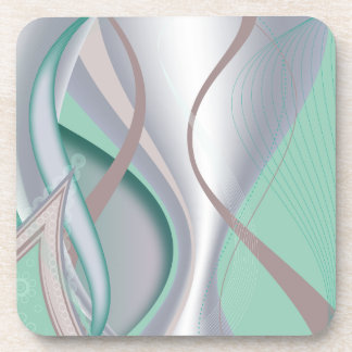 Abstract Chocolate Mint Tornado Coasters