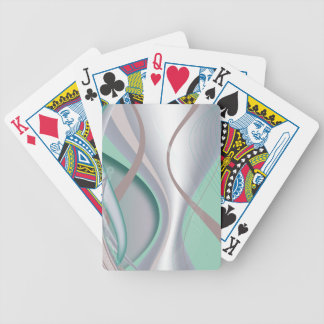 Abstract Chocolate Mint Tornado Playing Cards