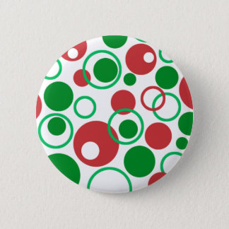 Abstract Christmas Button