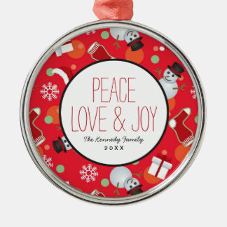 Abstract christmas pattern christmas ornament