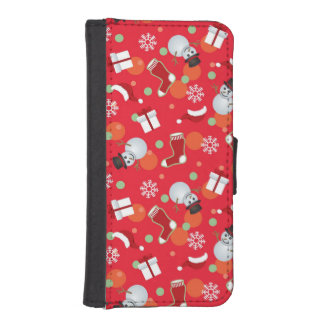 Abstract christmas pattern iPhone SE/5/5s wallet case