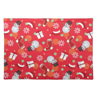 Abstract christmas pattern placemat