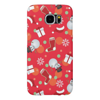 Abstract christmas pattern samsung galaxy s6 cases