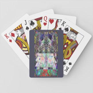 Abstract Christmas Poker Deck
