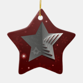 Abstract Christmas Star Background Christmas Ornament
