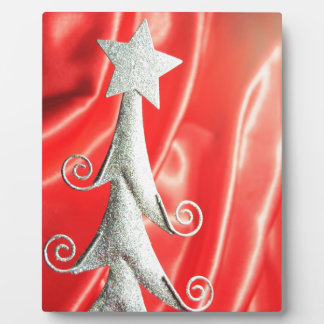 Abstract Christmas tree design Plaque