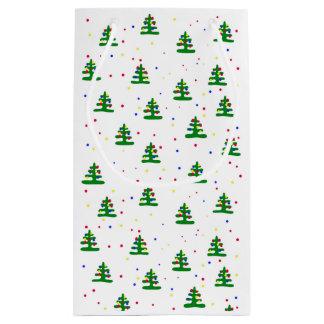 Abstract Christmas tree gift bag. Small Gift Bag