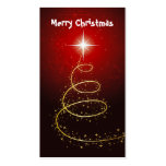 Abstract Christmas Tree Gift Tag-Business Cards