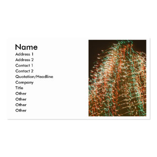 Abstract Christmas Tree Lights , black background Business Cards