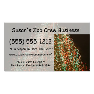 Abstract Christmas Tree Lights , black background Business Card Templates