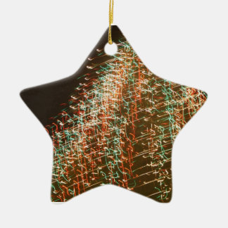 Abstract Christmas Tree Lights , black background Christmas Ornaments