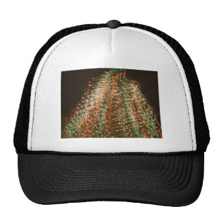 Abstract Christmas Tree Lights , black background Trucker Hat