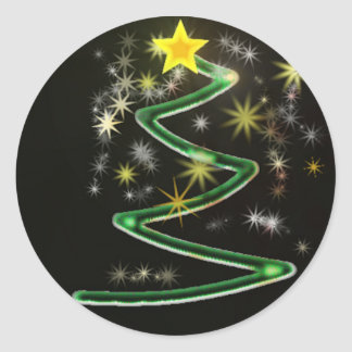 Abstract Christmas tree Round Sticker