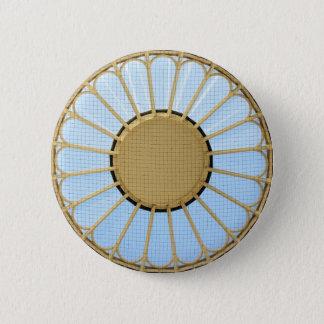 Abstract circle design 6 cm round badge
