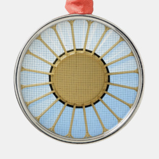 Abstract circle design christmas ornament