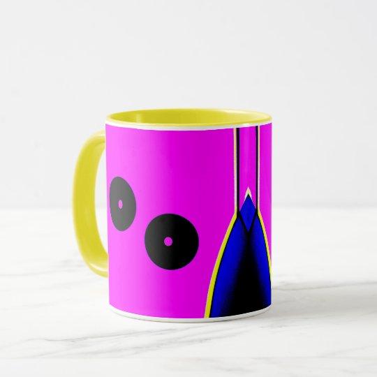 Abstract Circle Mechanical Mug motif
