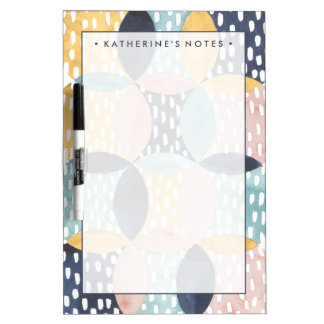 Abstract Circle Pattern Dry Erase Board