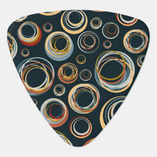 Abstract circle pattern plectrum