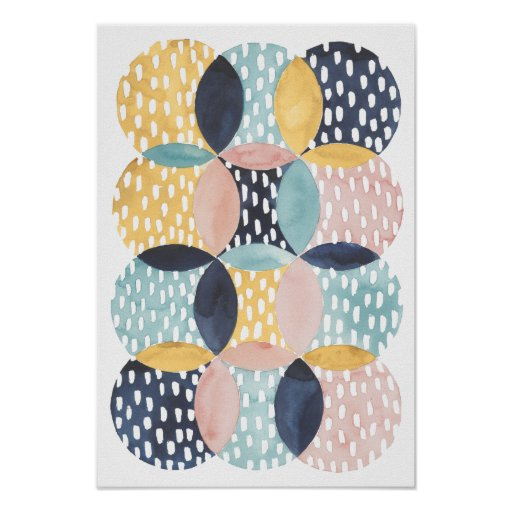 Abstract Circle Pattern Poster