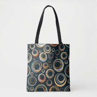 Abstract circle pattern tote bag