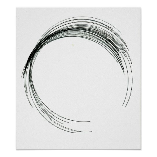 abstract circle round draw black white scrawl mode