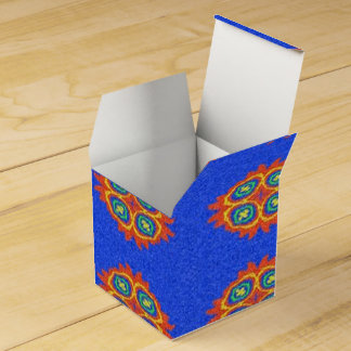 Abstract circle shape on blue background favour box